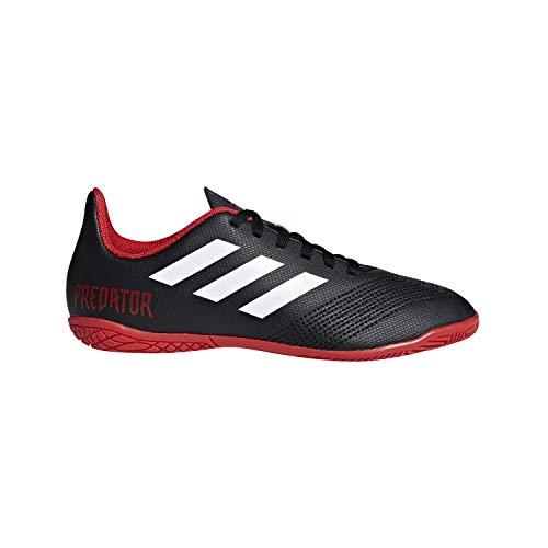adidas Unisex Predator Tango 18.4 Indoor Soccer Shoe, Black/White/red, 2.5 M US Little Kid