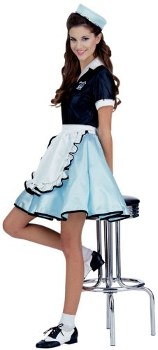 Car Hop Girl Costume - Standard - Dress Size 6-12 ()