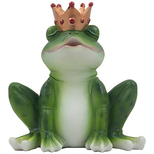 Romantic Kissing Frog Prince Figurine for Decorative Fairytale Girls Bedroom Décor or Valentines Day Gifts for Women (Statue Princess)