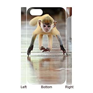 3D Bumper Plastic Case Of Monkey customized case For iPhone 5 5s