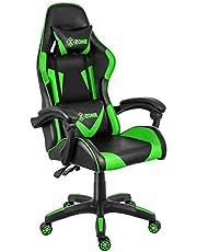 Cadeira Gamer XZONE, Premium, Preto/Verde, Ajuste de 0 a 13° - CGR-01-GR