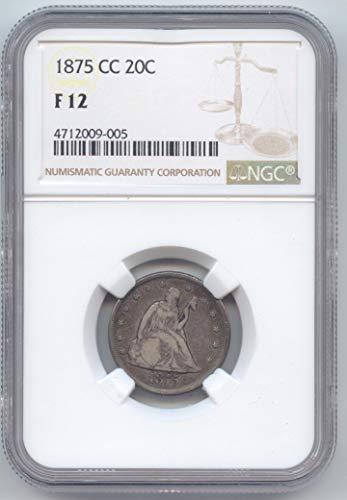 1875 CC Twenty-Cent Piece F-12 NGC