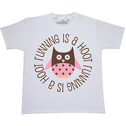 inktastic Running is A Hoot Fitness Youth T-Shirt Youth X-Large (18-20) White