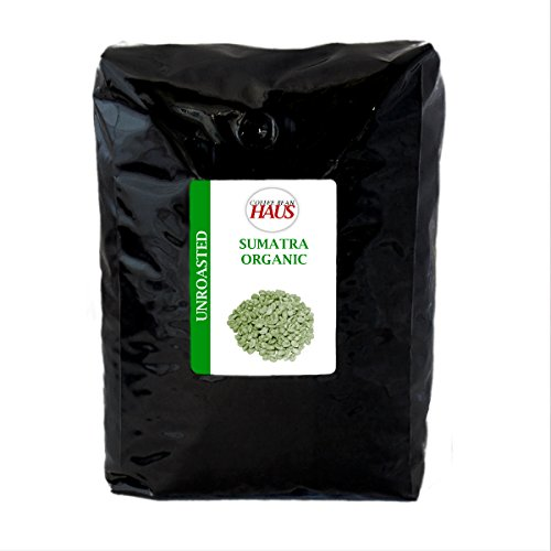 Sumatra Organic Unroasted Green Coffee Beans 5 lb by Coffee Bean Haus