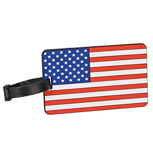 Travelon American Flag Luggage Tag One-Color, One-Color, One Size ()