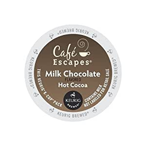 Cafe Escapes Hot Cocoa K-Cups, Milk Chocolate, 96 Count