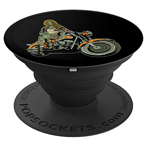 Sarcastic Hot Biker Girl Zombie PopSockets Grip and Stand for Phones and Tablets -