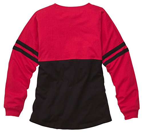"""Price comparison product image Boxercraft Spirit Jersey """"Pom Pom Pullover"""" ,  Adult Sizes,  Red / Black,  Small"""