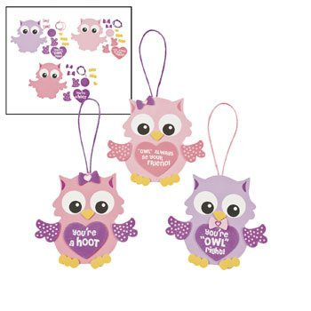 Valentine Owl Ornament Craft Kit - Crafts for Kids &