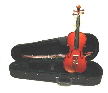 Merano MA350 14'' Boxwood Fitted Viola with Case, Bow+Extra Set of Strings+Extra Bridge+Shoulder Rest+Black Music Stand+Metro Tuner+Rosin+Mute