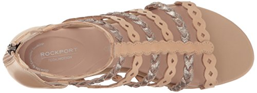 Sandal Total Women's Taupe Motion Warm Gladiator Wedge Rockport Xqp5dX