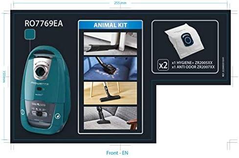 Performance Rowenta Silence Force Aspirapolvere con sacchetto silenzioso blu//grigio capacit/à XL 4,5 L accessori speciali per peli di animali e per la casa RO7769EA