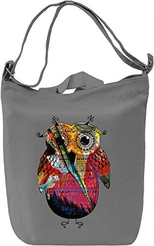 The Little Owl Borsa Giornaliera Canvas Canvas Day Bag  100% Premium Cotton Canvas  DTG Printing 