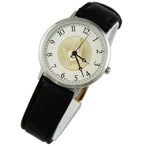Square & Compass Leather Masonic Wrist -