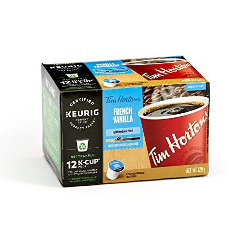 Tim Hortons French Vanilla Coffee, Single Serve Keurig K-Cup Pods, Light Medium Roast, 12 Count: Amazon.ca: Industrial & Scientific