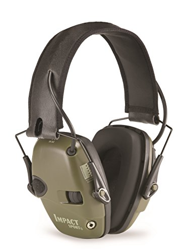 Howard Leight By Honeywell Impact Sport Sound Amplification Electronic Shooting Earmuff  Classic Green  R 01526