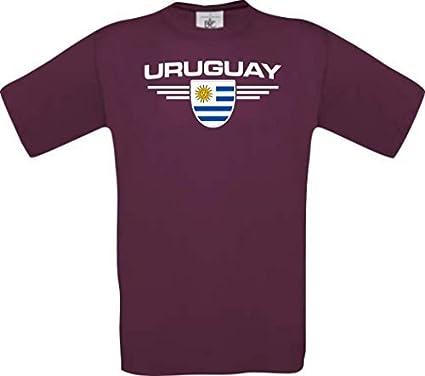 Shirtstown Man Camiseta Uruguay Camiseta de País con SU Jungen y su Número Deseado, Fútbol: Amazon.es: Ropa y accesorios