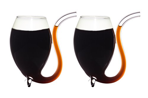 ish Coffee Liqueur Sipping Glasses 175Ml - Sip The Coffee Through The Pipe - Sipping Glass Also Can Be Used For Wine Port & Other Spirits (Irish Liqueur)