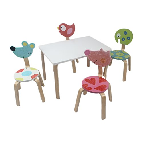 Children's Table and Chair Set( 4 Chair Set )