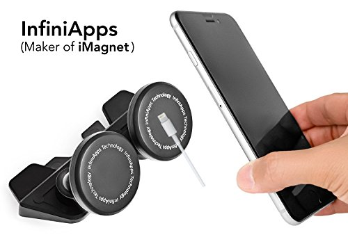 Car mount, Phone mount InfiniApps DuoMount[MAGNETIC MOUNT] The original, best, patented CD Slot Mount, Car Phone Mount (Cd Slot Tablet Mount)