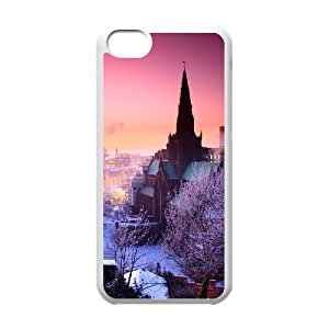 Okaycosama Funny IPhone 5C Cases Hongxia City Scenery Unique for Guys, Case for Iphone 5c for Girls, {White}