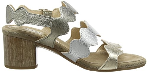 Bout Sandales Ouvert Manas bronzo Guadalupe Multicolore 007 Platino argento Femme EPFFwqUx