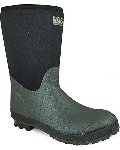 Smoky Mountain Men's Dark Amphibian Boot Round Toe Green 9 D