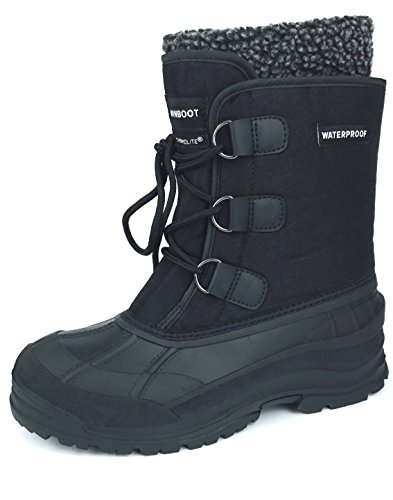 MEADA 107Snow Boot Black 9.5 (Mens Winter Waterproof Boots)
