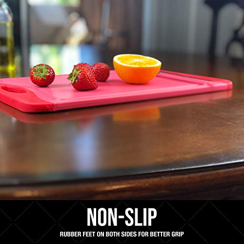 Raj Plastic Cutting Board Reversible Cutting board, Dishwasher Safe, Chopping Boards, Juice Groove, Large Handle, Non-Slip, BPA Free (Extra Large (17.4