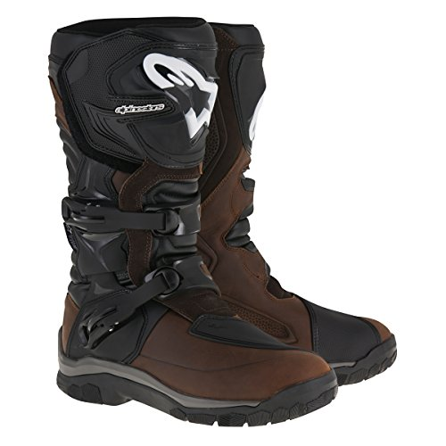 Leather Street Motorcycle Boots (Alpinestars Corozal Adventure Drystar Men's Street Motorcycle Boots - Brown Oiled Leather / 11)