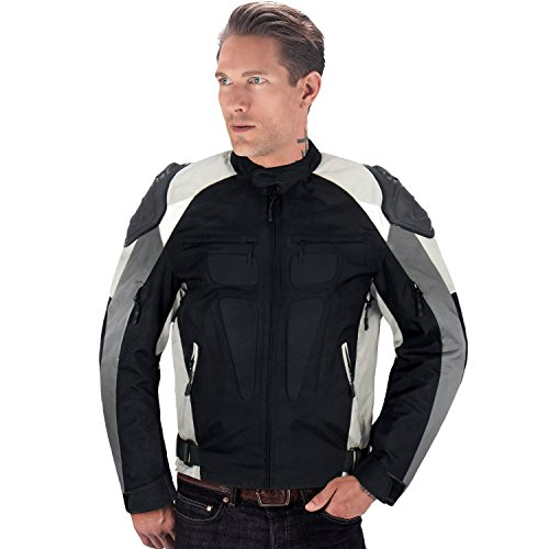 Viking Cycle Asger Motorcycle Jacket for Men (Small, White)