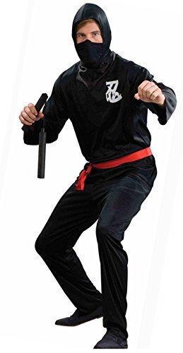 Men's Ninja Warrior Costume Black (Standard (up to 42 in. Chest))