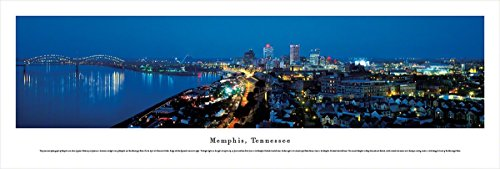 Frame Nhl Picture Horizontal (Memphis, Tennessee - Blakeway Panoramas Unframed Skyline Posters)