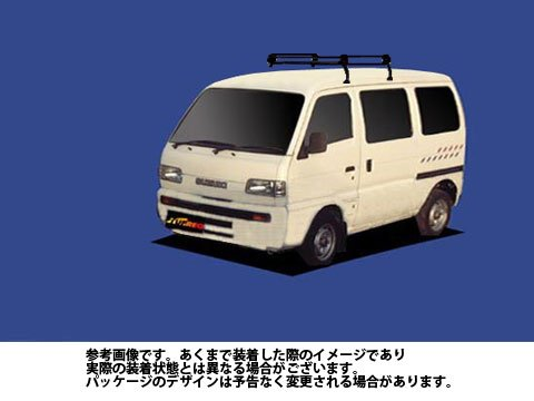 ルーフキャリア PL22 キャリィ / DE51V Pシリーズ スチール×ブラック塗装 タフレック TUFREQ 精興工業 B06Y15GSY2