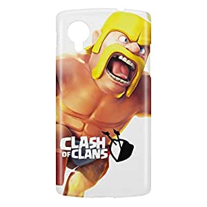 Loud Universe Nexus 5 Clash Of Clans Barbarian Leap Print 3D Wrap Around Case - Multi Color