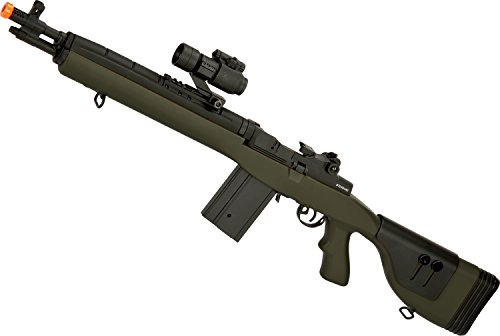 Evike - CYMA M14 SOCOM Airsoft AEG with Polymer DMR Style Stock (Package: OD Green/Gun Only)