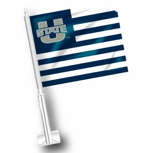 NCAA Utah State Aggies Car Flag Set of 2