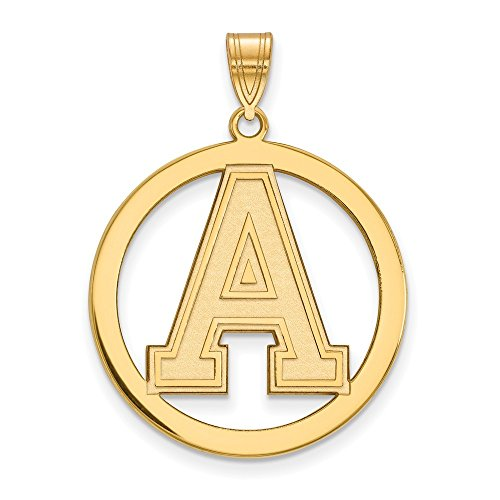 Roy Rose Jewelry Sterling Silver with 14K Yellow Gold-plated LogoArt U.S. Military Academy Large Pendant in Circle by Roy Rose Jewelry