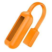 Fitbit Flex 2 Clip Holder, MoKo Magnetic Replacement Accessories Clip Clasp Strap for Fitbit Flex 2 Wristband, Strong Magnet Clasp Holder, ORANGE