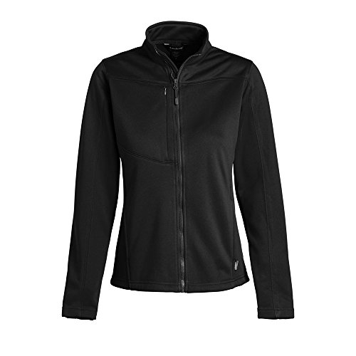 Landway Women's Bonded 2 Layer Fleece Soft Shell Jacket, Black, Large (Bonded Fleece Outerwear)