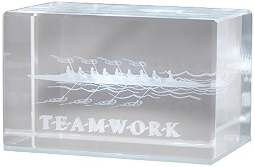 Successories 841249 Teamwork Rowers 3D Crystal Award Without Base
