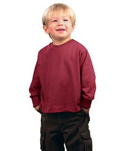 - LC Boutique Toddler Unisex Fine Jersey Long Sleeve T Shirt Sizes 2T-6T Cardinal Red