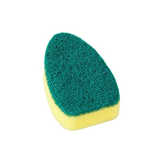 Kitchen Cleaning Brush Scrubber Refill Replacement Heads Washing Dish With Refill Liquid Soap Dispenser Dishwash And Clean sponge replacement core (2 x clean brush (without handle)) ()
