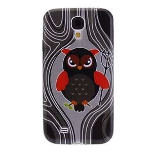 Black Owl Pattern TPU Soft Case for Samsung Galaxy S4 I9500