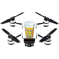 Skin For DJI Spark Mini – Beer Lover | MightySkins Protective, Durable, and Unique Vinyl Decal wrap cover | Easy To Apply, Remove, and Change Styles | Made in the USA