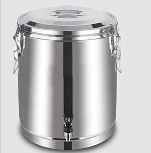 LJXWH Aislamiento Barril Gran Capacidad Restaurante Comercial Sopa de arroz gachas de Leche de Soja Puesto Desayuno Hielo Polvo té de Hierbas Acero Inoxidable Cubo Abierto: Amazon.es: Hogar