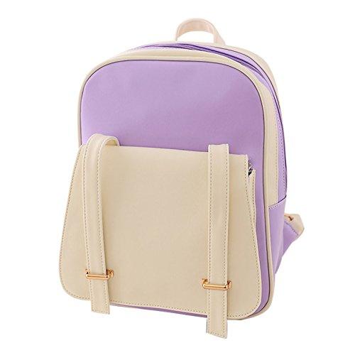 Use Women's Strong matching Color Backpack Yiji Purple Daily EBFwRZEq