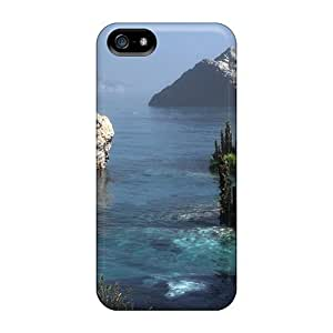 Quality Maria N Young Case Cover With Amazing Rocks Trees On Sea Shore Nice Appearance Compatible With Samsung Galaxy S5 I9600/G9006/G9008 Kimberly Kurzendoerfer