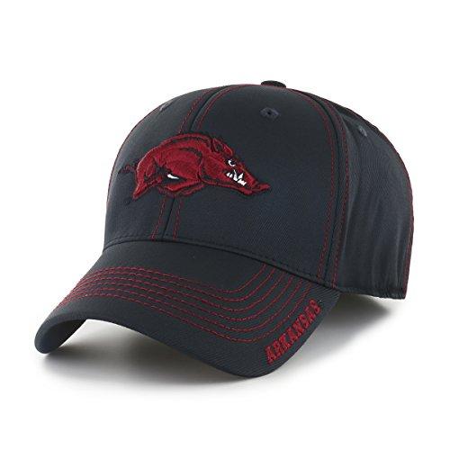 NCAA Arkansas Razorbacks Adult Start Line Ots Center Stretch Fit Hat, Large/X-Large, Black