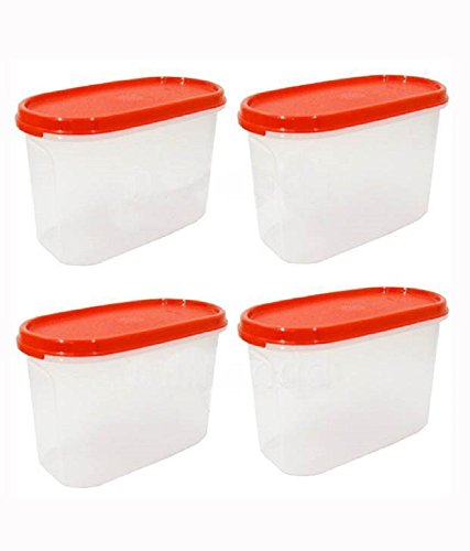 Tupperware Modular Mates Plastic Container Set, 1.1 Litre, Set of 4, White Price & Reviews
